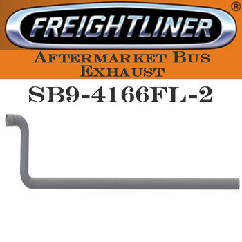 "SB9-4166FL-2 4"" Freightliner Bus Exhaust 2 Bend ID-OD End ALZ"