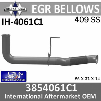 IH-4061C1 3854061C1 or 2512967C91 International EGR Bellow IH-4061C1