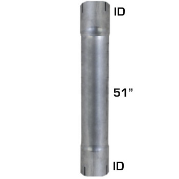"5"" x 51"" Aluminized Muffler Exhaust Eliminator ID-ID S5-51EXEXA"