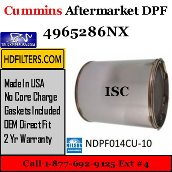 4965286NX Cummins ISC Engine Diesel Particulate Filter DPF