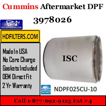 3978026-NDPF025CU-10 3978026 Cummins ISC Engine Diesel Particulate Filter DPF