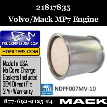 21817835-NDPF007MV-10 21817835 Volvo Mack DPF for MP7 Engine