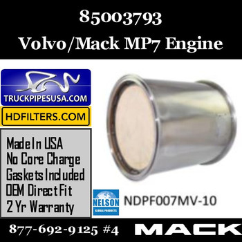 85003793 Volvo Mack DPF for MP7 Engine