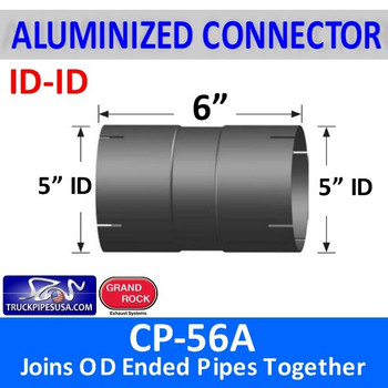 "5 inch Exhaust Coupler ID-ID Aluminized 6"" Long CP-56A"