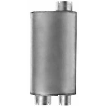 """M-551 Type 2A Oval Muffler 7"""" x 9"""" x 24"""" - 3"""" IN-2-5/8"""" OUT"""