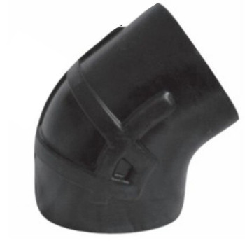"RE-7653 7"" Reduced to 6"" 53 Degree Kenworth Air Intake Rubber Elbow"