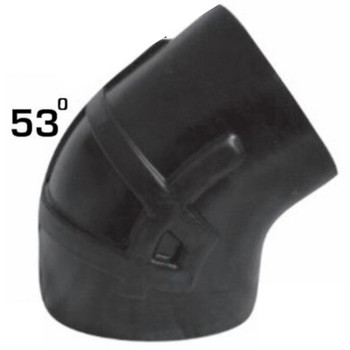 """7"""" Reduced to 6"""" 53 Degree Kenworth Air Intake Rubber Elbow"""