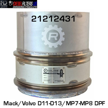 21212431 Mack/Volvo D11/D13/MP7/MP8 DPF (RED 52957)