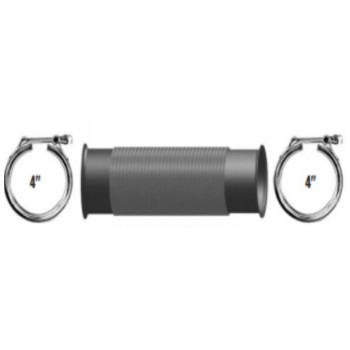 """A04-25922-018 4"""" Bellows Flex Pipe Freightliner with Clamps"""