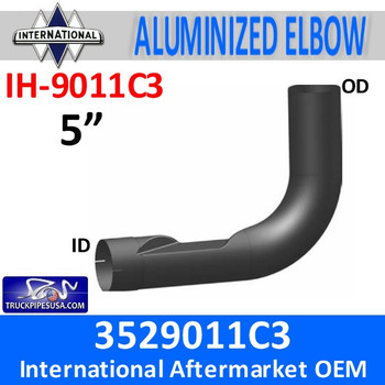 IH-9011C3 3529011C3 International Exhaust Elbow IH-9011C3