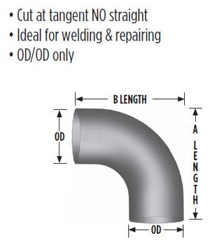 "3-890-10-439 8"" Generator Exhaust Elbow 90 Degree OD-OD 439 STAINLESS STEEL 3-890-10-439"