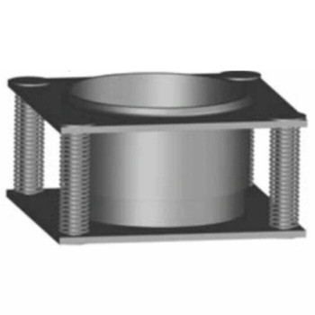 "Spring Plate 4"" Hole for heated dump bed Aluminized SP-4"