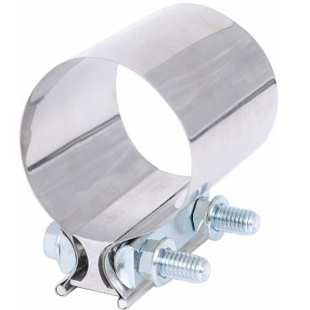 """6"""" Stainless Steel Butt Joint Exhaust Clamp TBS600"""