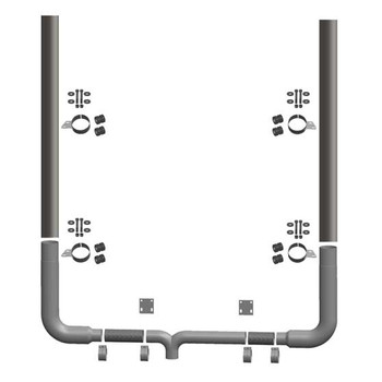 Peterbilt 379 1994 Through 2007 8 Inch Chrome Plated Seamless Exhaust Kits With Flat Top Stacks 8SSK-90PBC-S8-108SBC