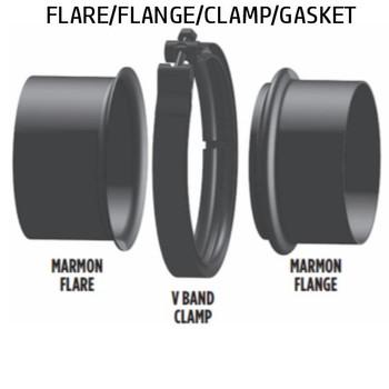 "5"" Marmon Flange/Flare Set 5.756 Bead 304SS (FLANGE/FLARE SET)"