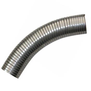 "4"" x 72 .018 304 Stainless Steel Flex Exhaust Hose"