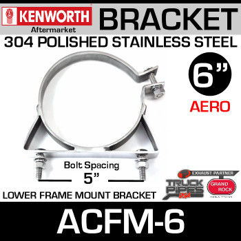 "6"" Lower Frame Mounting Bracket for Kenworth Aerocab ACFM-6"