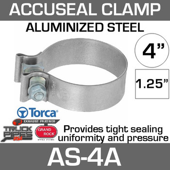 "4"" Aluminized AccuSeal Exhaust Band Clamp AS-4A"