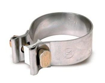 "AS-5SS 5"" Dull Stainless Steel AccuSeal Exhaust Clamp AS-5SS"