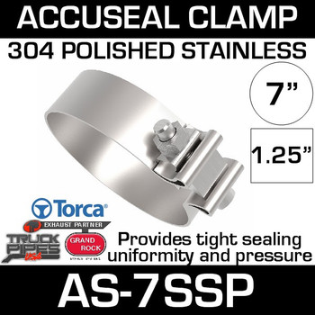 "7"" Polished Stainless AccuSeal Band Clamp AS-7SSP"