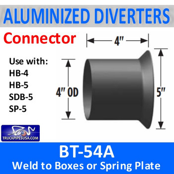 "BT-54A BT-54A 4"" OD Aluminized Tube to Weld to Diverter Box"