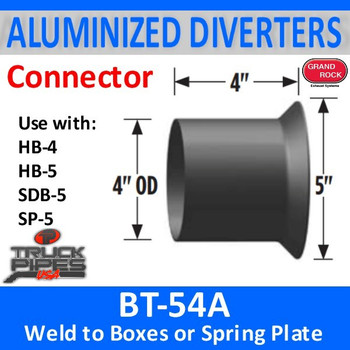 "BT-54A 4"" OD Aluminized Tube to Weld to Diverter Box"