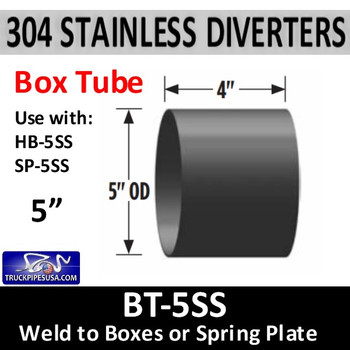 "BT-5SS BT-5SS 5"" OD 304 Stainless Steel Weld to Stainless Steel Diverter Box"