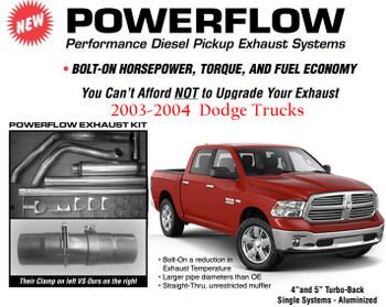 "DC-0304-A4 Dodge 2003-2004 4"" Powerflow Full Exhaust Kit"