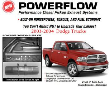 "DC-0304-A4 Dodge 2003-2004 4"" Powerflow Full Exhaust Kit"