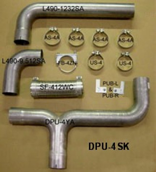 "DPU-4SK 4"" Diesel Pick-up Dual Exhaust Kit"