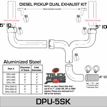 5 inch Dual Pick-up Stack Kit DPU-5SK