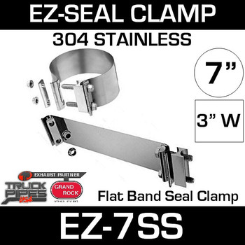 "7"" EZ Seal Stainless Steel Exhaust Clamp EZ-7SS"