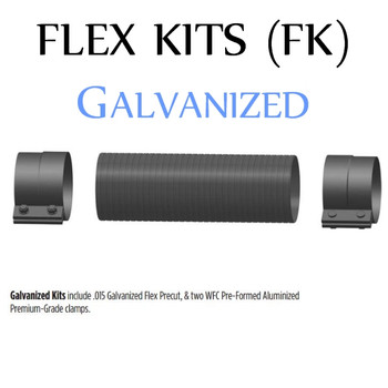 """FK-412G 4"""" x 12"""" Galvanized Flex Pipe Kit 2 Clamps Included FK-412G"""
