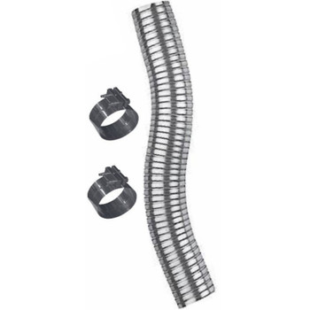 """4"""" x 18"""" Galvanized Flex Pipe Kit 2 Clamps Included FK-418G"""