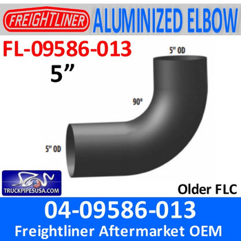 04 09586 013 Freightliner FLC Aluminized Elbow Exhaust FL 09586 013 Pipe Exhaust 5 inch diameter truck pipes usa__15599.1505849654?c=2 freightliner exhaust pipes oem aftermarket freightliner