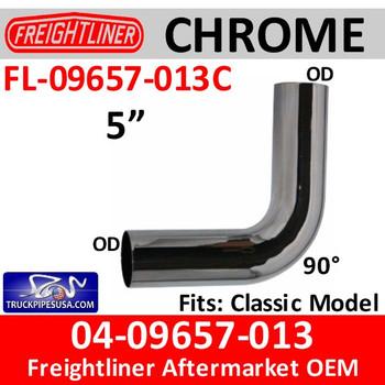 FL-09657-013C 04-09657-013 Freightliner Chrome 90 Deg Elbow FL-09657-013C