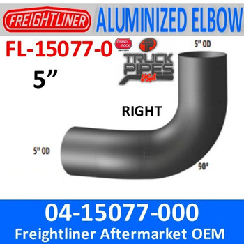 04-15077-000 Freightliner FLD 90 Degree ALZ Right Side FL-15077-0