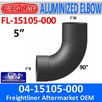 FL-15105-000 04-15105-000 Freightliner FLD 90 Deg Exhaust Elbow FL-15105-000