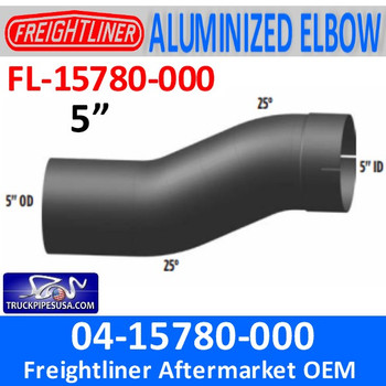 FL-15780-000 04-15780-000 Freightliner 25 Degree Double Bend Pipe FL-15780-000