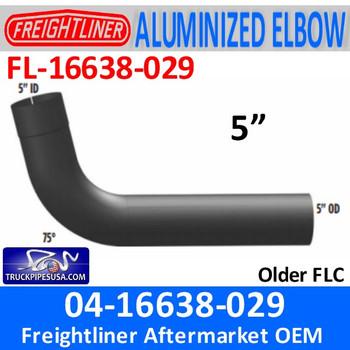 """FL-16638-029 04-16638-029 Freightliner 75 Deg Elbow 5"""" ID-OD FL-16638-029"""