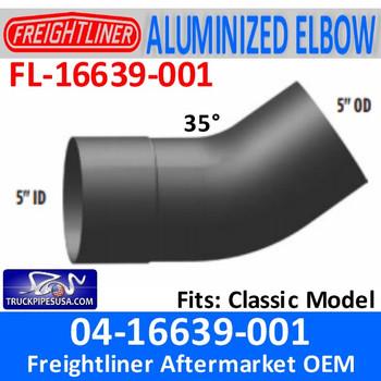 FL-16639-001 04-16639-001 Freightliner 35 Deg ALZ Exhaust Elbow FL-16639-001