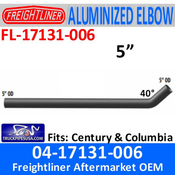 "FL-17131-006 04-17131-006 Freightliner Century 74.80"" Medium Connection Pipe"