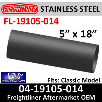 "FL-19105-014 04-19105-014 Freightliner Classic 5"" x 18"" Flex Hose FL-19105-014"