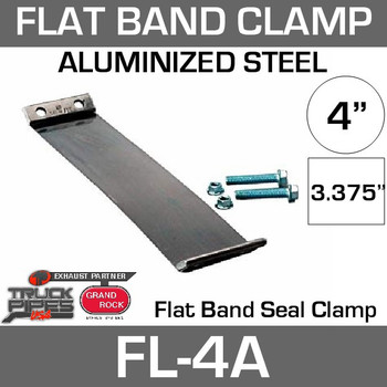 "4"" Aluminized Flex-Seal Exhaust Clamp FL-4A"
