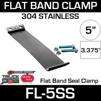 """5"""" 304 Stainless Steel Flex-Seal Exhaust Clamp FL-5SS"""