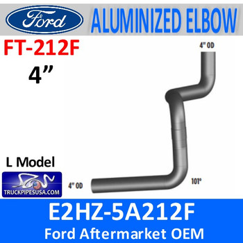 "FT-212F E2HZ-5A212F Model L Ford  4"" Muffler Exhaust Inlet FT212F"