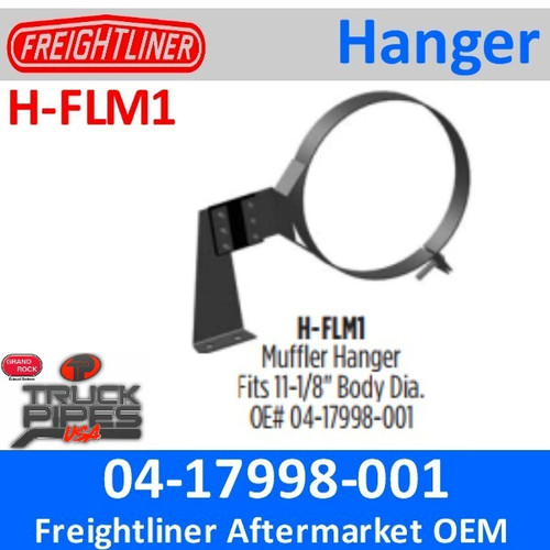"""04-17998-001 11"""" Freightliner Muffler Hanger H-FLM1"""