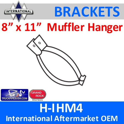 8 x 11 Oval HD Muffler Hanger International 1986 and up