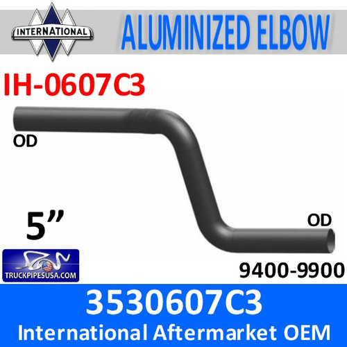 3530607C3 International Exhaust Double Elbow IH-0607C3
