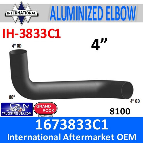 1673833C1 International 8100 Day cab Exhaust Elbow IH-3833C1